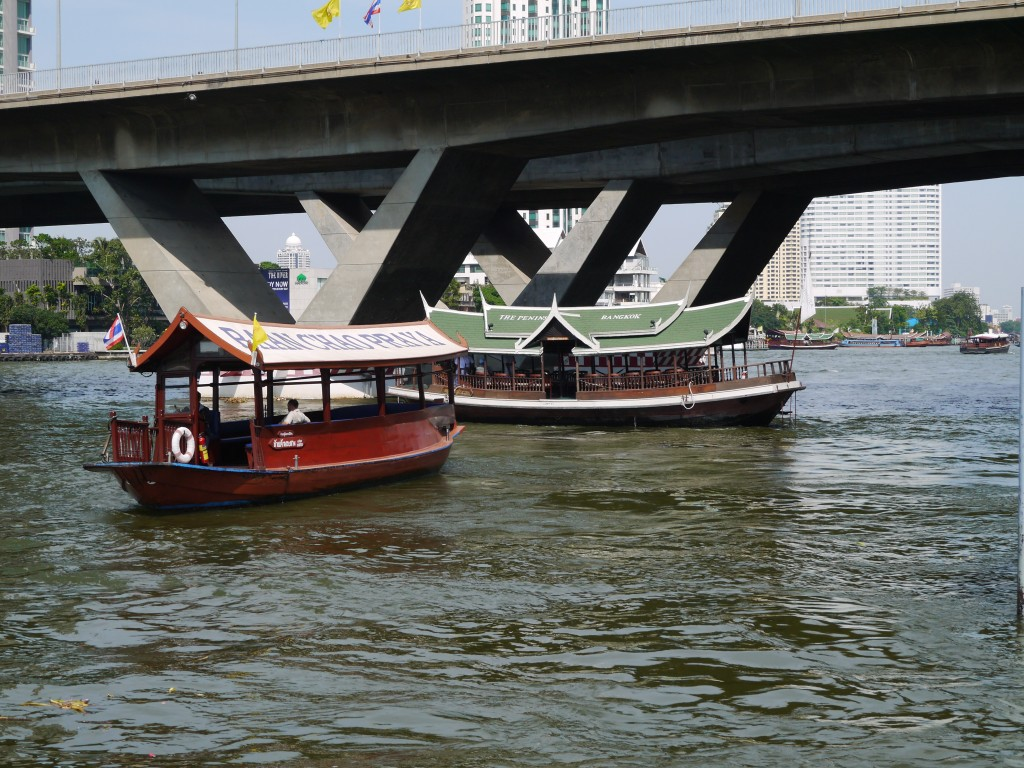 Hotel Shuttle Boats On Chao Phraya River Bangkok