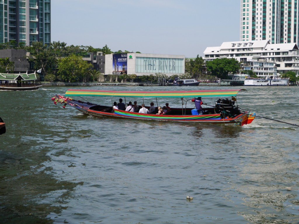 Long-Tail Boat Leaving Sathorn Pier On Chao Phraya River