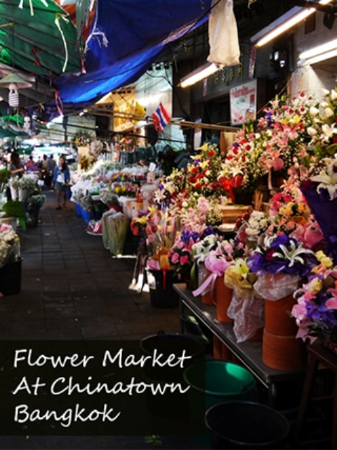The Flower Market In Bangkok's Chinatown