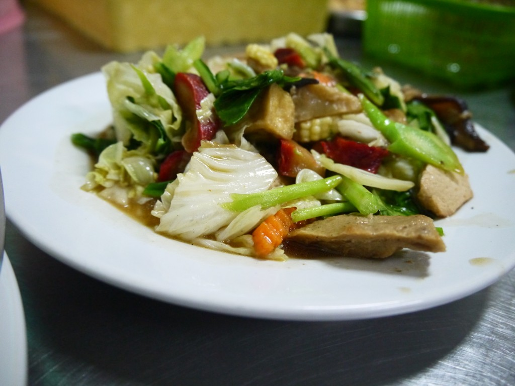 Fake Meat Stir Fry in Chinatown, Bangkok