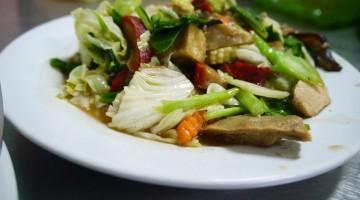 Fake Meat Stir Fry in Chinatown, Bangkok
