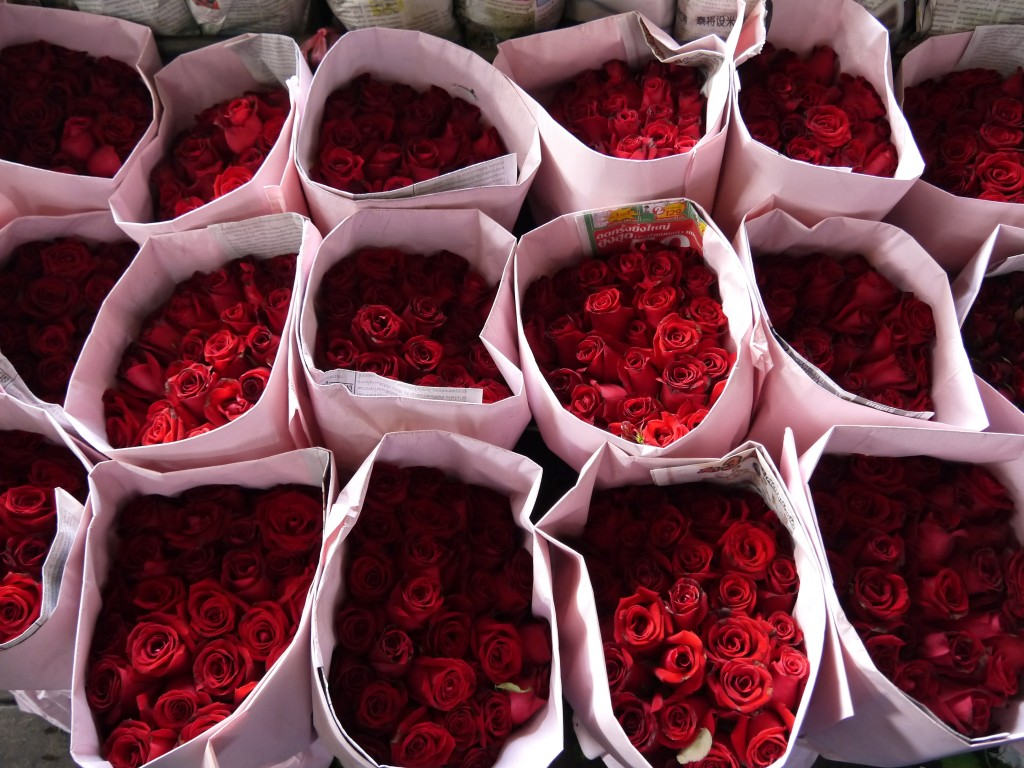 Roses at Bangkok Flower Market