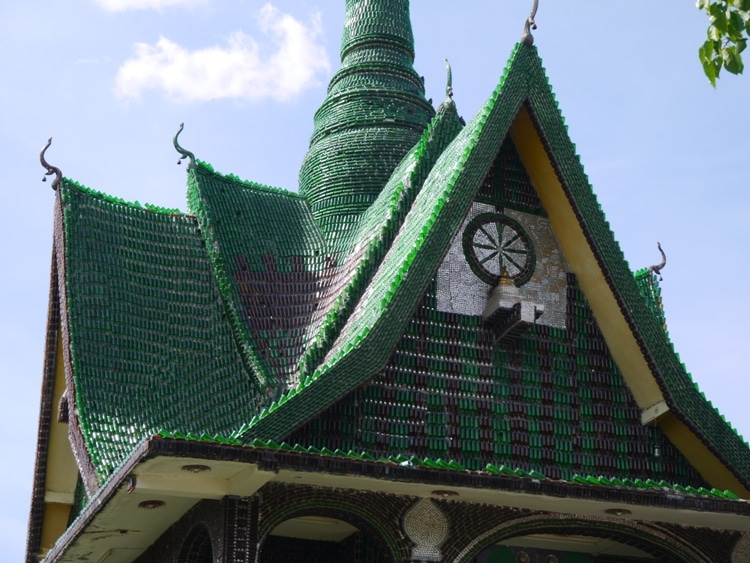 Beer Bottle temple, weird Thailand Temples