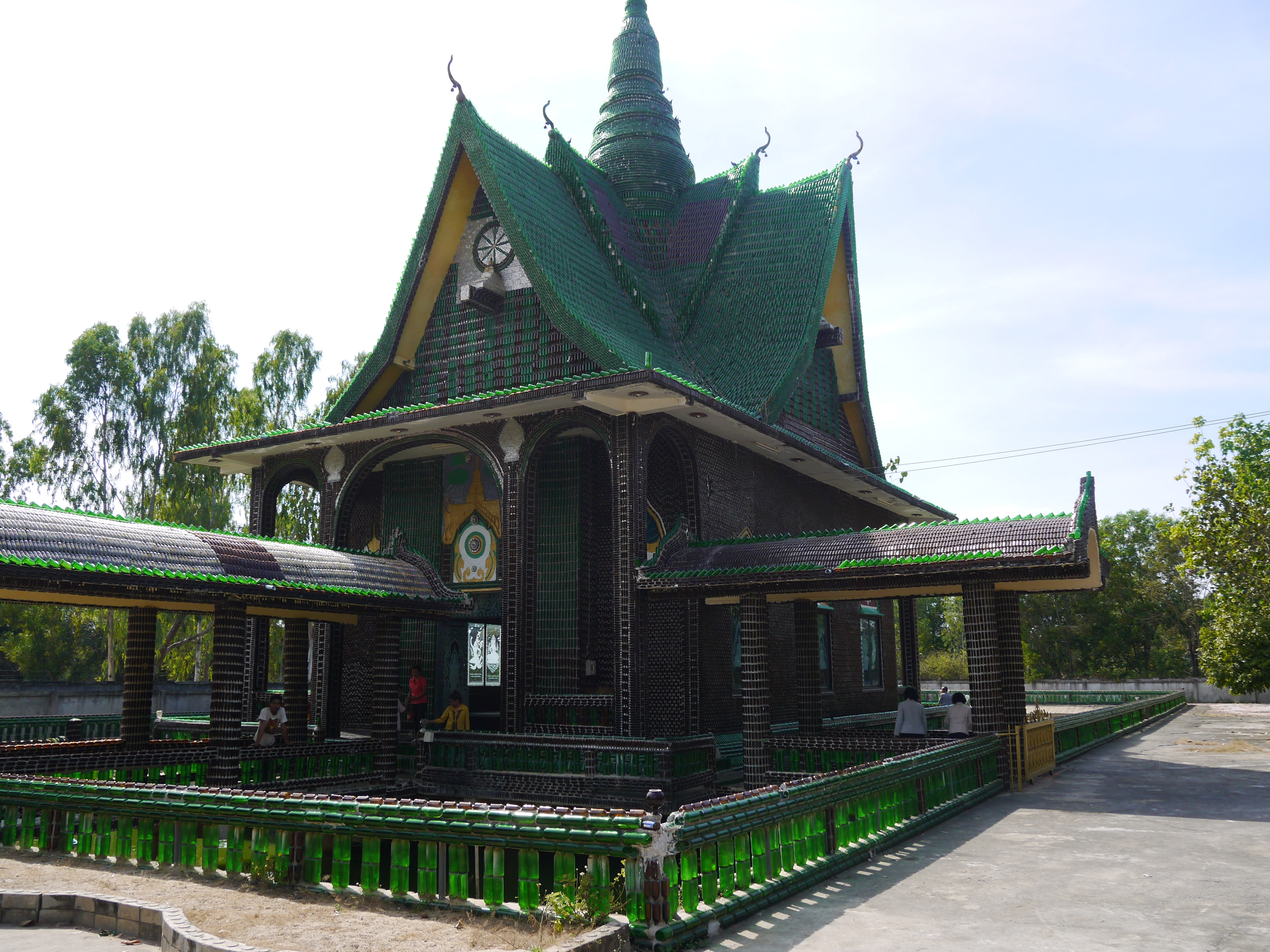 beer bottle temple in thailand renegade travels