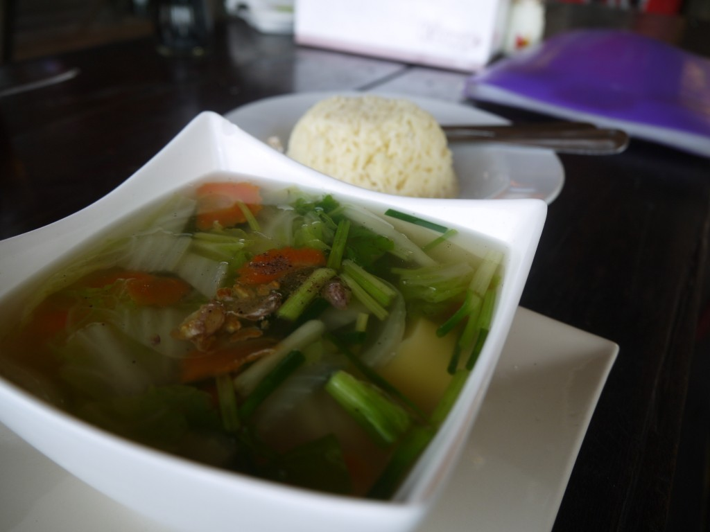 Spicy Glass Noodles And Tofu With Vegetables In Clear Soup