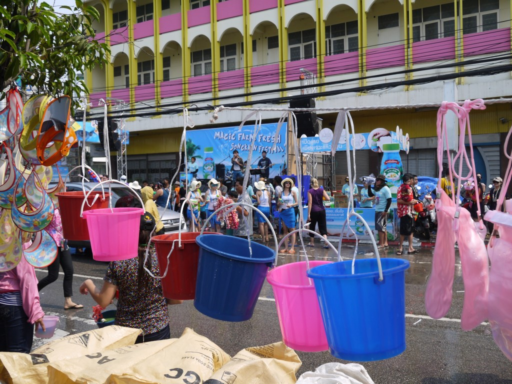 Buckets For Sale At Chiang Mai Songkran Festival