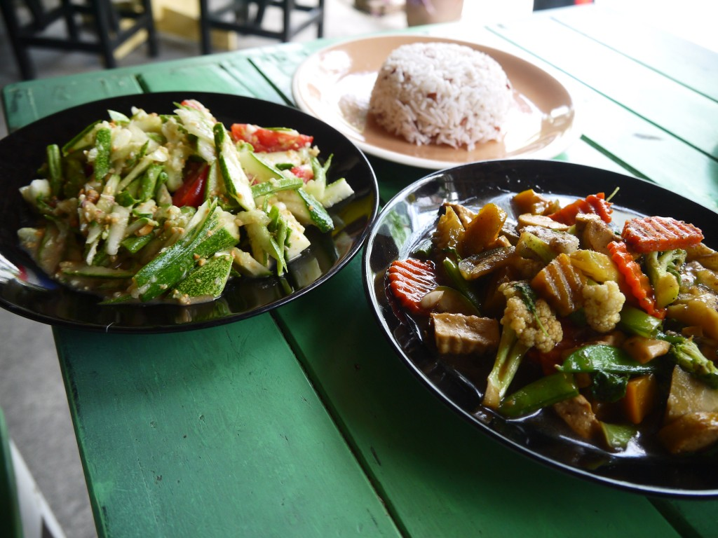 Delicious Vegetarian Food At P&P Coffee, Chiang Mai