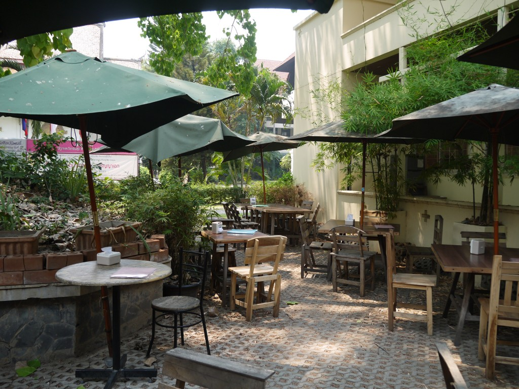 Outdoor Seating At Pun Pun Vegetarian Restaurant