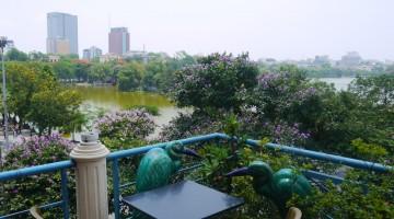 View Of Lake Hoan Kiem From Cafe Pho Co, Hanoi, Vietnam