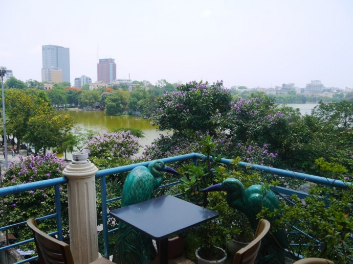 View Of Lake Hoan Kiem From Cafe Pho Co, Hanoi, Vietnam