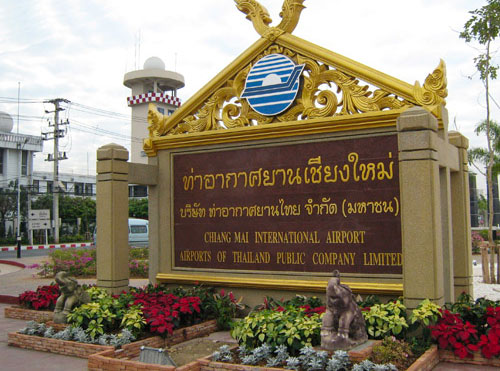 The Chiang Mai Airport in Thailand