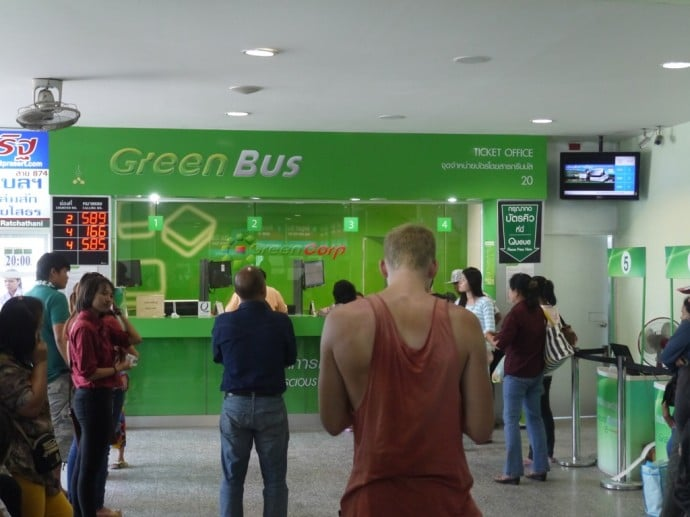 Green Bus Ticket Office At Arcade Bus Station, Chiang Mai