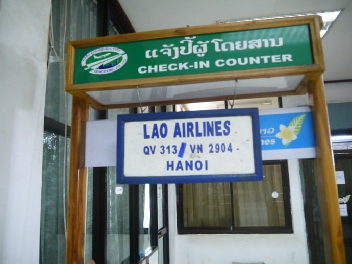 Lao Airlines Check-In Counter