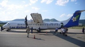 Our Laos Airlines Plane To Hanoi