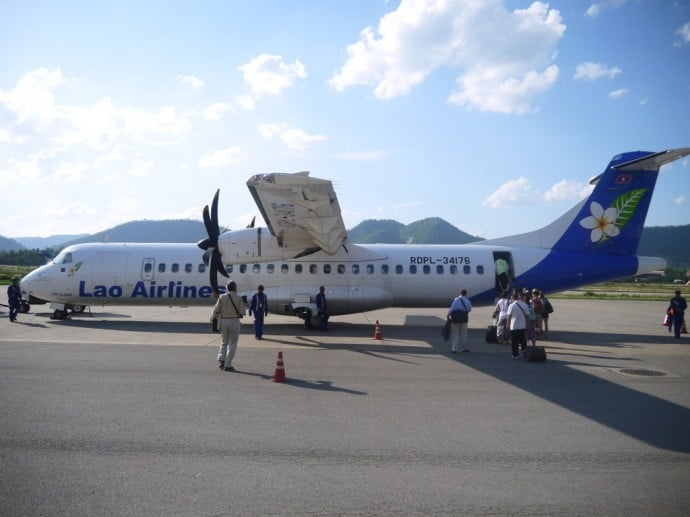 Our Lao Airlines Plane To Hanoi