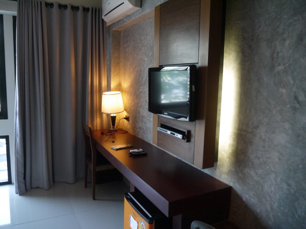 TV & Work Area At B2 Hotel, Chiang Mai