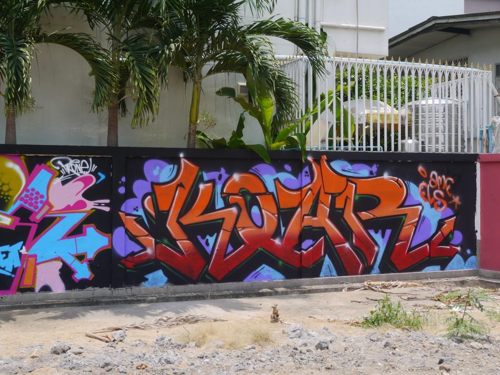 Graffiti At Vacant Lot in Chiang Mai, Thailand