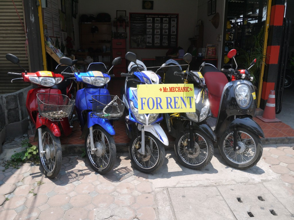 Scooters And Motorbikes For Rent In Chiang Mai