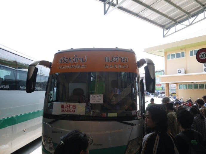 Chiang Mai To Chiang Rai Bus - Final Destination Maesai