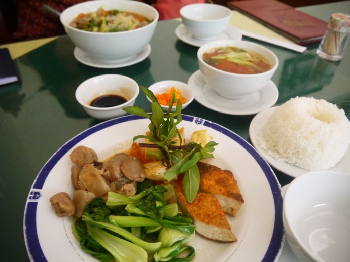Set Menu & Noodle Soup At Com Chay Nang Tam