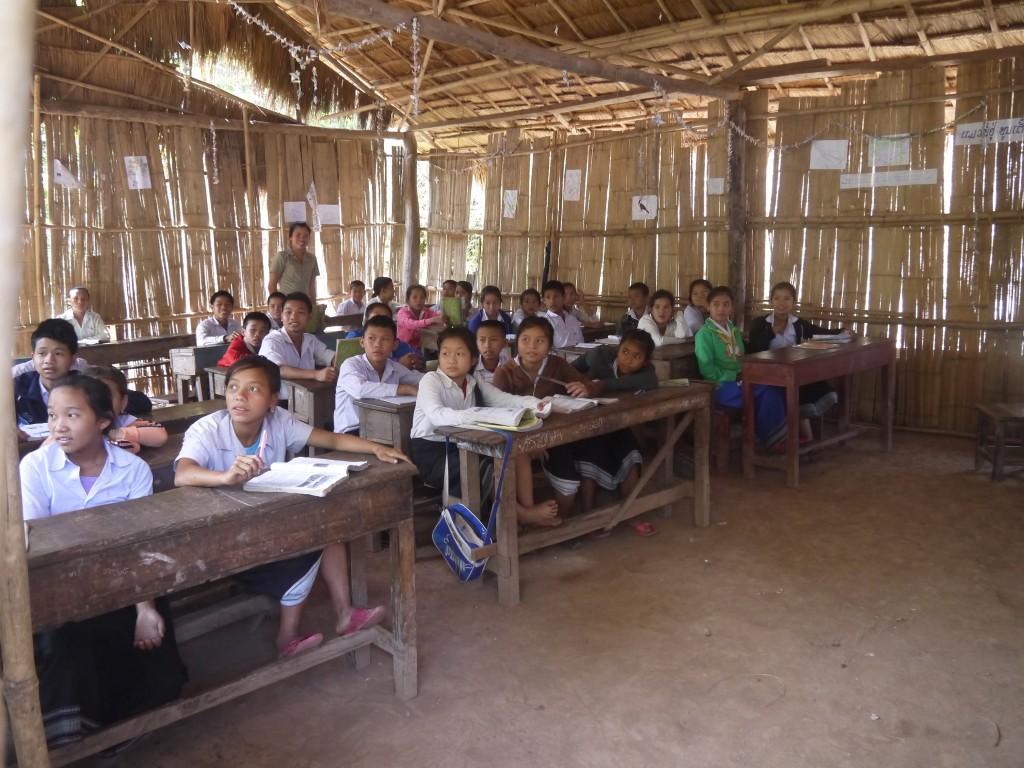 Schoolchildren At Hill Tribe Village School in Laos