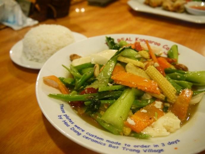 Tofu, Cashew & Veggie Stir Fry At Kangaroo Cafe, Hanoi