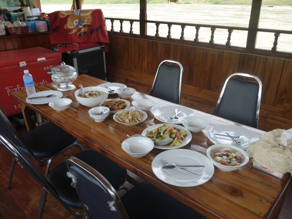 Lunch On Board The Slow Boat To Luang Prabang