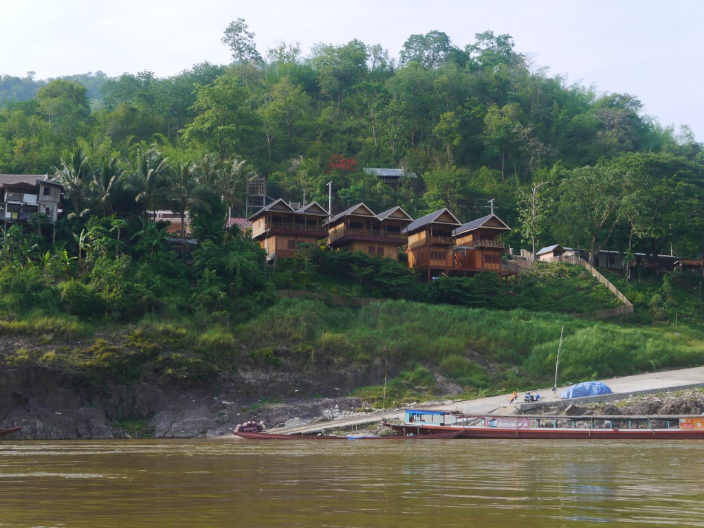 View Of Mekong Riverside Lodge From Our Boat
