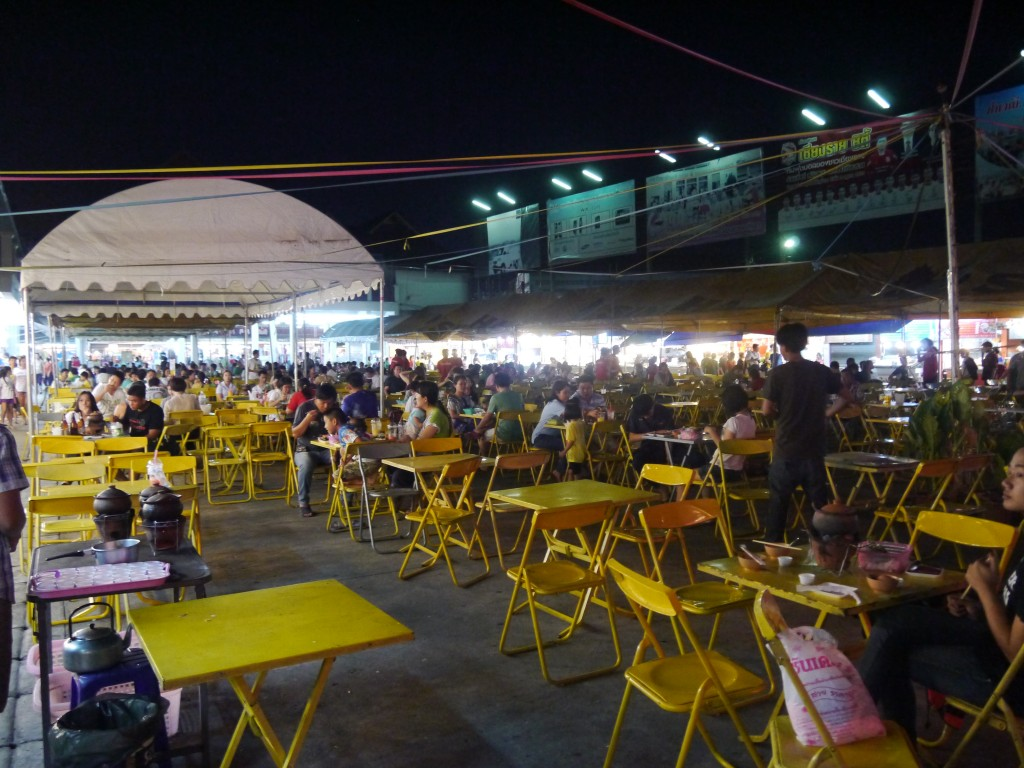 Outdoor Seating Area at Chiang Rai Night Bazaar
