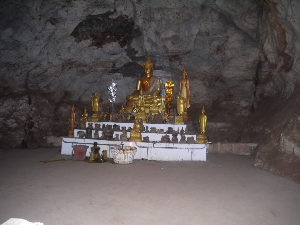 Buddha Image Inside The Top Cave At Pak Ou Caves