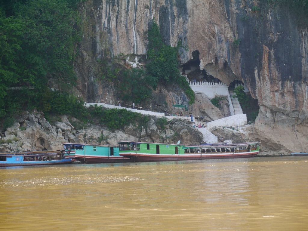 Pak Ou Caves On Mekong River In Laos