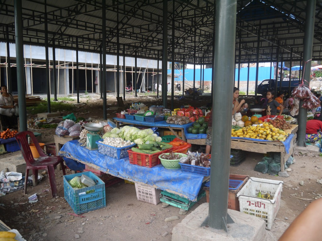 Fruit & Vegetables For Sale At Pakbeng Market, Laos