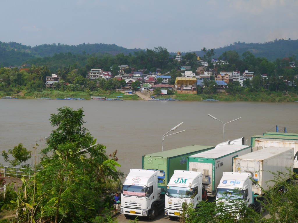 The Lorry & Coach Crossing To Laos