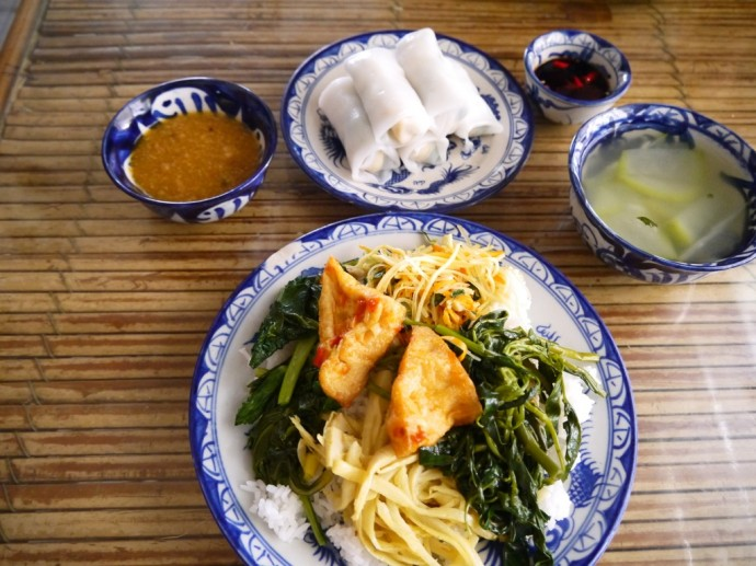 A Delicious Meal At Quan Chay Thanh Lieu In Hue, Vietnam