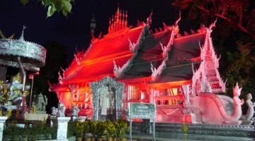 Sri Suphan Temple Lit Up At Night