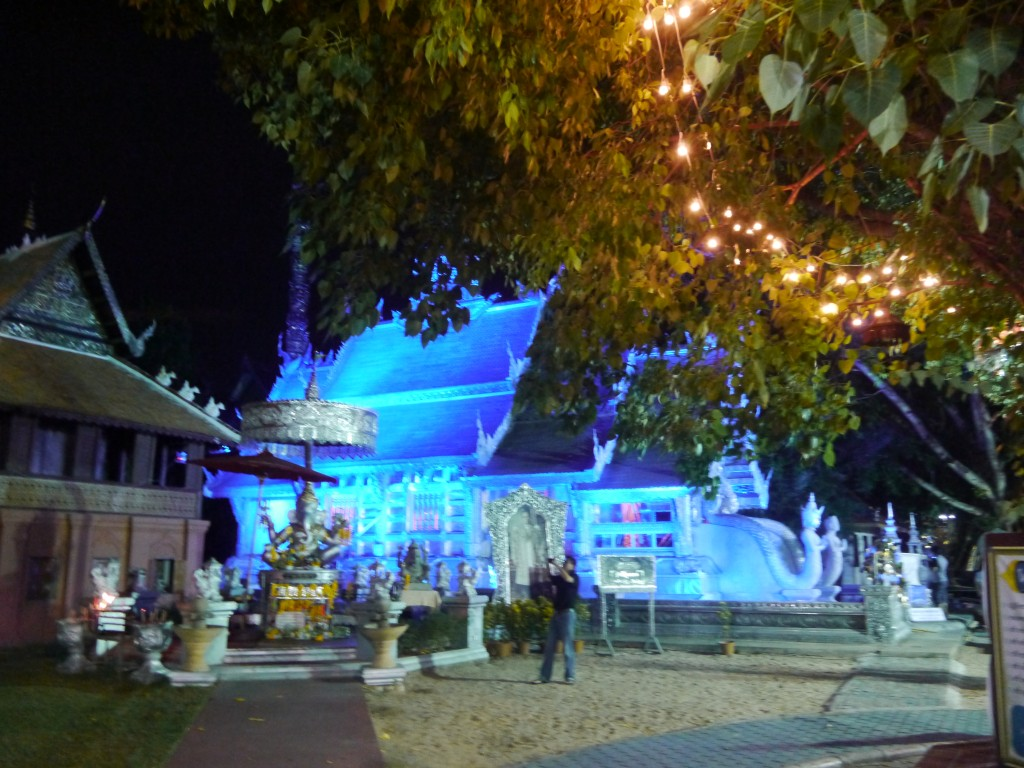 Silver Temple At Night
