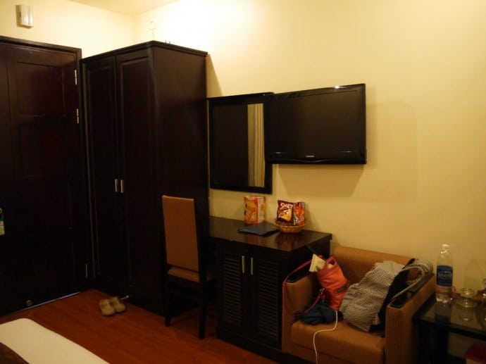 Wardrobe, Desk, Fridge And TV At Than Thien Friendly Hotel In Hue
