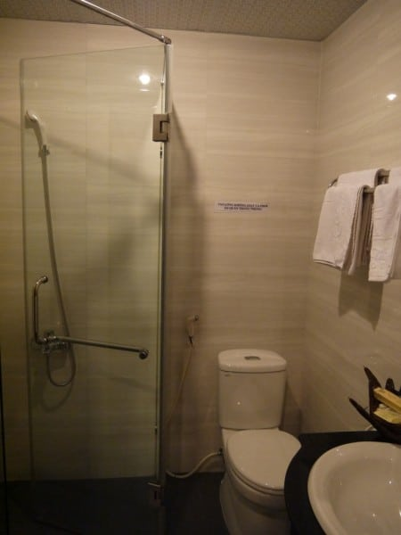 Modern Bathroom At Than Thien Friendly Hotel In Hue, Vietnam