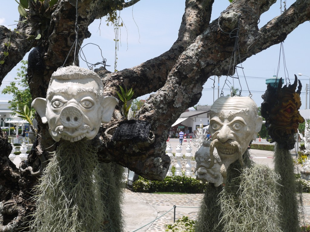 Hanging Heads At The White Temple, Chiang Rai