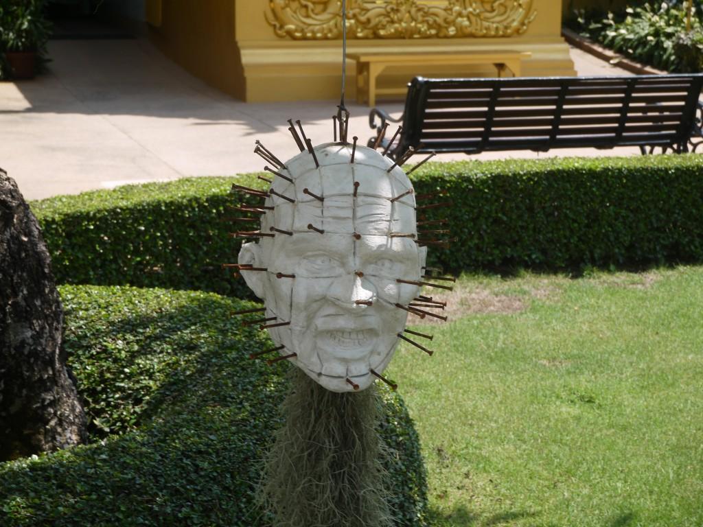Hellraiser Head At Chiang Rai's White Temple