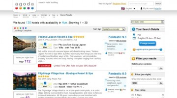 Agoda Hotel Results Screen