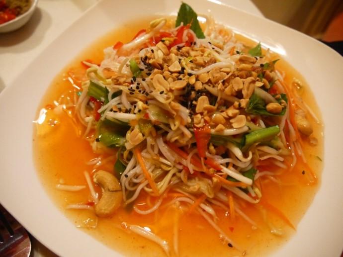 Kampot Rice Noodle Salad With Peanut Sauce