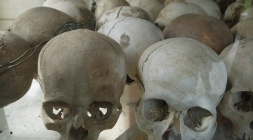 Skulls At Choeung Ek Killing Fields, Phnom Penh