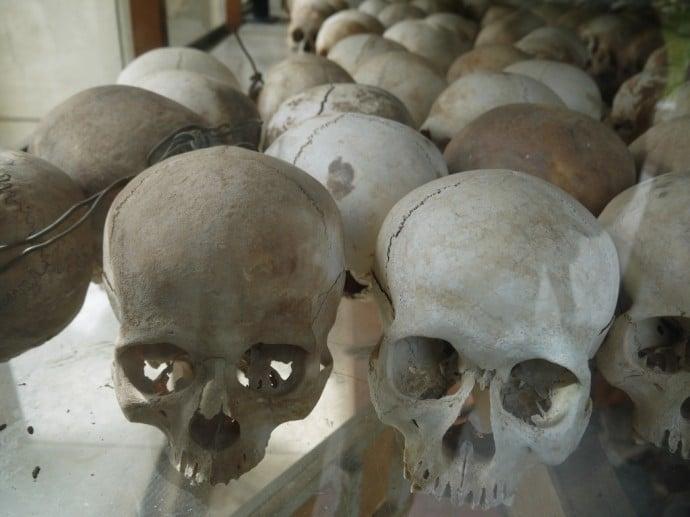 Skulls At Choeung Ek Killing Fields, Phnom Penh