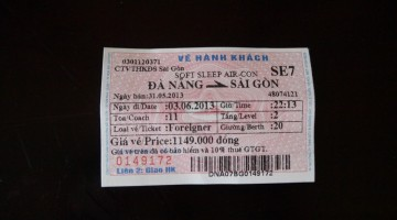Danang To Saigon Train Ticket