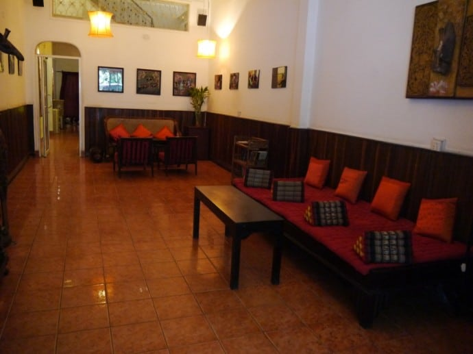 Ground Floor Seating At Goldie Boutique Guest House, Phnom Penh