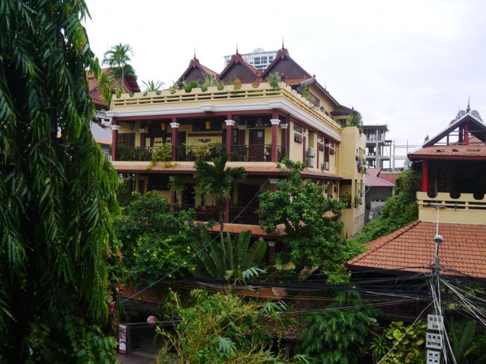 View From Balcony At Goldie Boutique Guest House, Phnom Penh