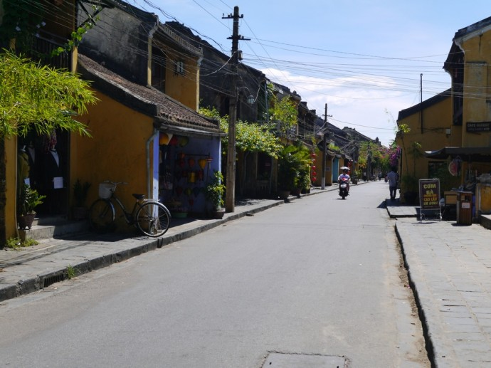 An Almost Deserted Street In Hoi An