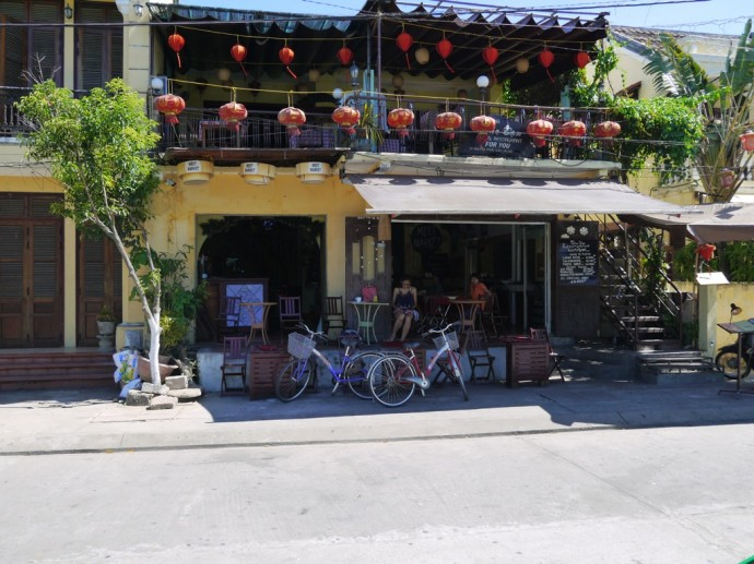 Lanterns Outside A Cafe In Hoi An