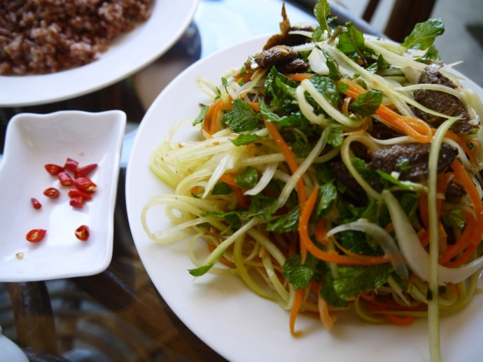 Spicy Papaya & Carrot Salad At Karma Waters, Hoi An, Vietnam